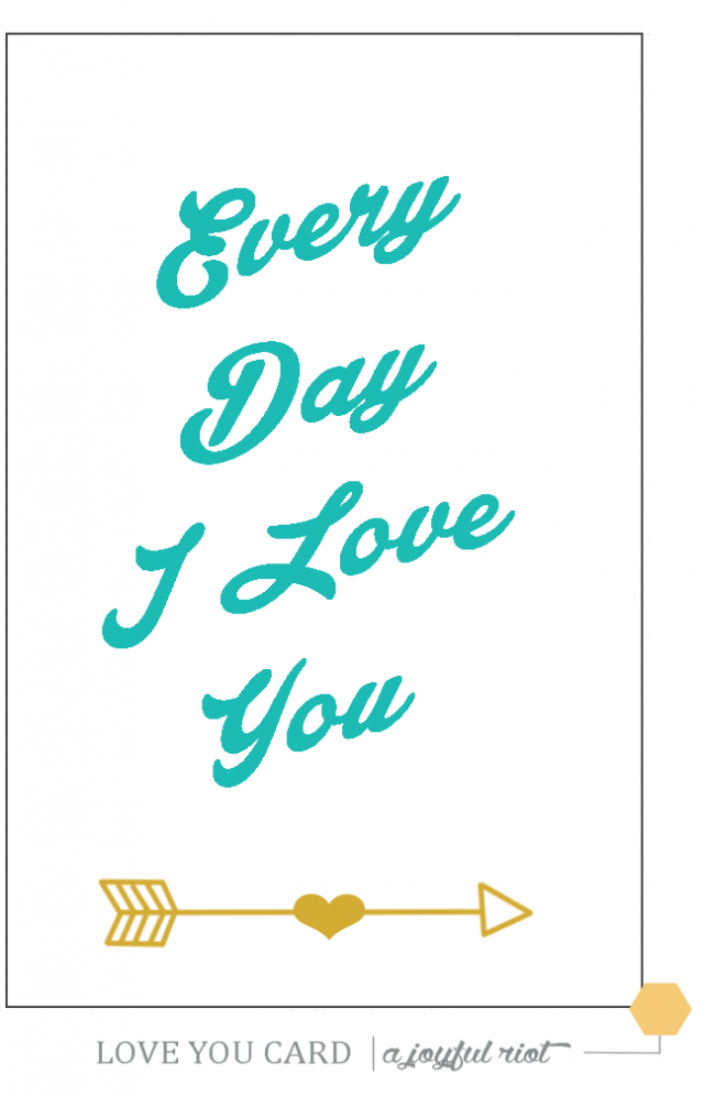 Modest image with printable i love you cards