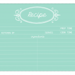 Mint Recipe Card | Free Printable