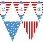 4th of July Bunting | Free Printable Friday