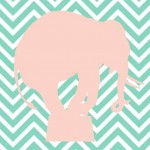 Chevron Elephant Print | Free Printable Friday