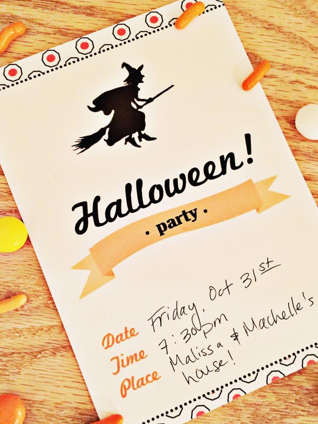 Halloween Party Invite Free Printable Friday A Joyful Riot
