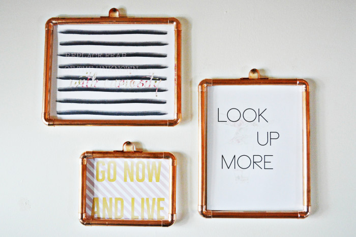 diy copper frames a joyful riot