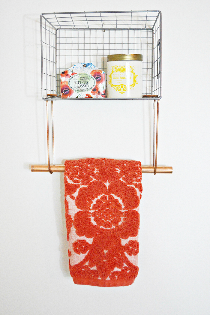 Wire Basket Towel Rack A Joyful Riot