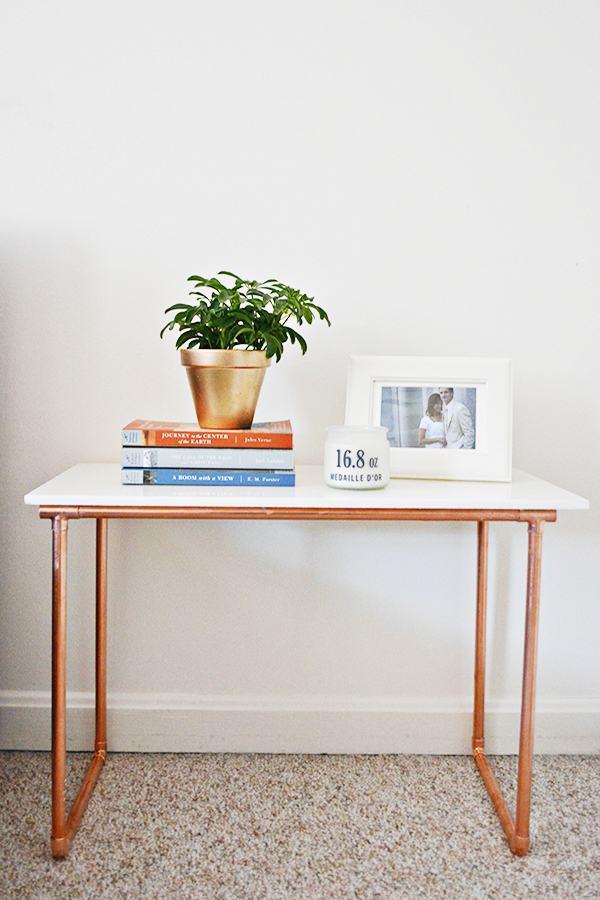 Marble And Copper Side Table A Joyful Riot