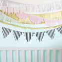 Make your own tissue fringe garlands in any color and shape you need! | A Joyful Riot