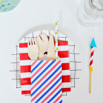 July 4th Utensil/Gift Bag Patterns | Free Printable