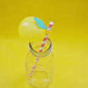 Lemon Balloon Straws @ajoyfulriot