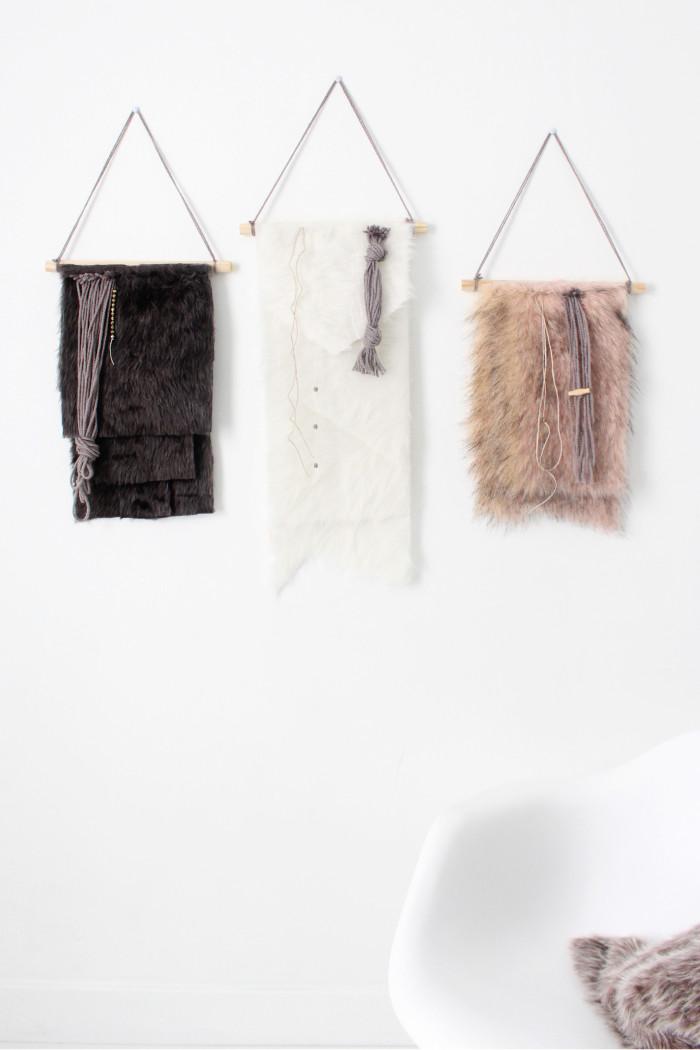 Diy Faux Fur Wall Hangings A Joyful Riot