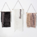 DIY Faux Fur Wall Hangings