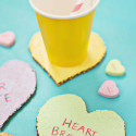 Easy DIY Conversation Heart Coasters