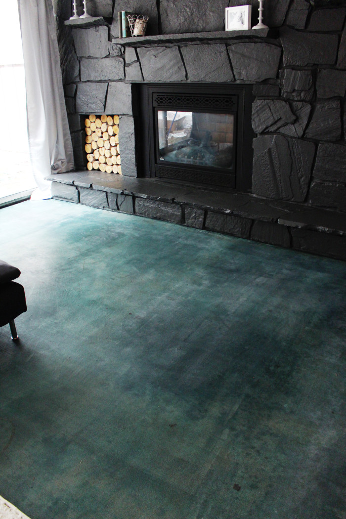 Diy Acid Stained Concrete Floor Joyful Riot