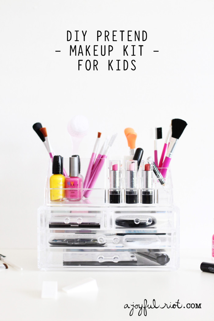 DIY Pretend Makeup Kit for Kids | A Joyful Riot
