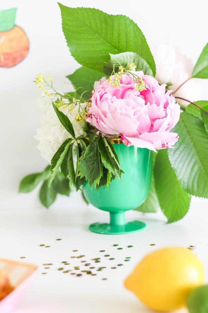 Vintage Citrus Floral Birthday Party A Joyful Riot