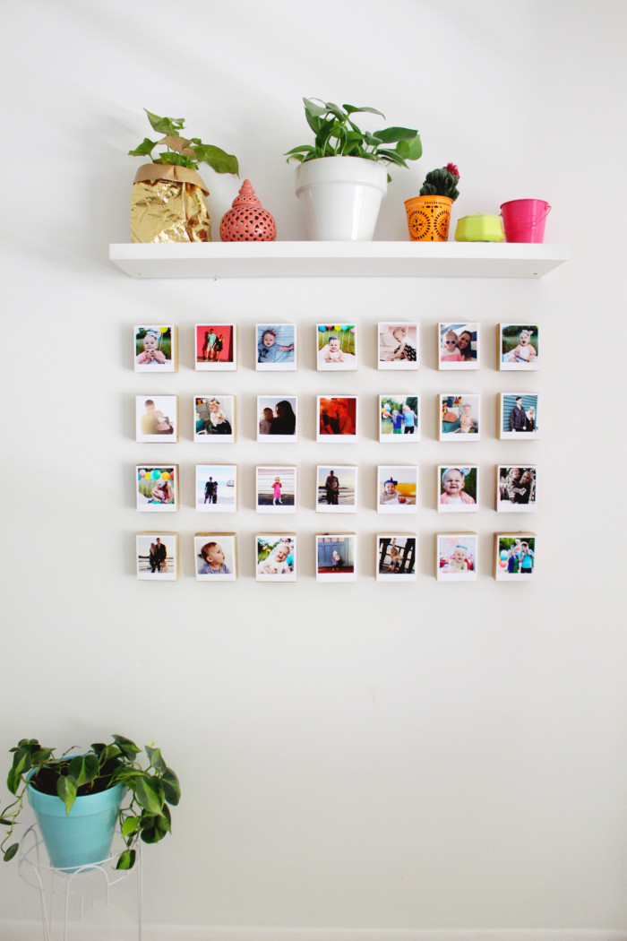 Instagram polaroid block gallery wall revisited a - Mur photo polaroid ...