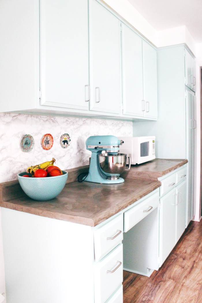 diy marble contact paper backsplash | a joyful riot