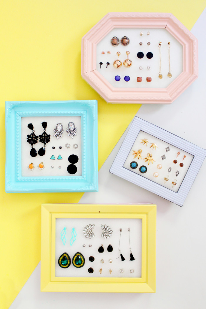 Easiest stud earring holders ever that put your jewelry on display without having to remove the backs! | A Joyful Riot