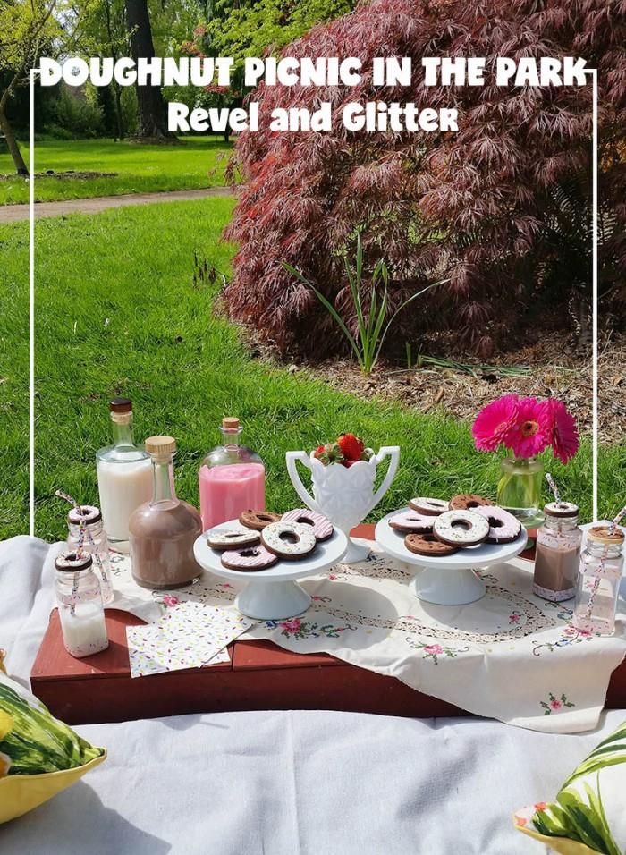 Doughnut Picnic, White Russian w/ Coffee and Doughnut Plates | Doughnut Party Blog Hop #2